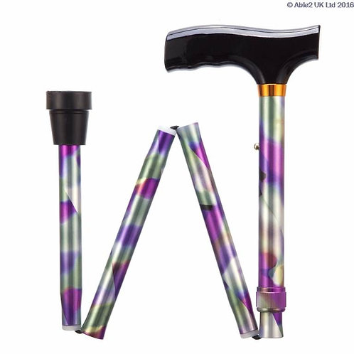 "Folding Adjustable Walking Sticks - Rainbow 29-33"" VAT EXEMPT"