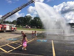 Shaler Villa Fire Company helping us cool off at Adventure Week