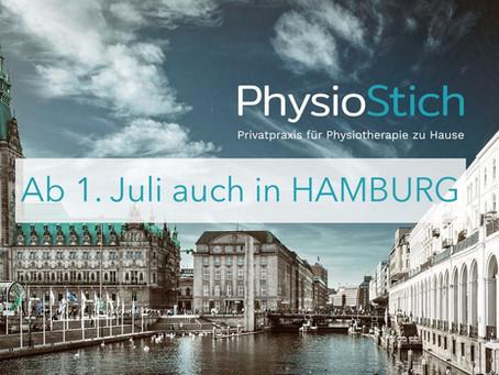 PhysioStich jetzt auch in Hamburg: Physiotherapie Hausbesuche rund um die Alster
