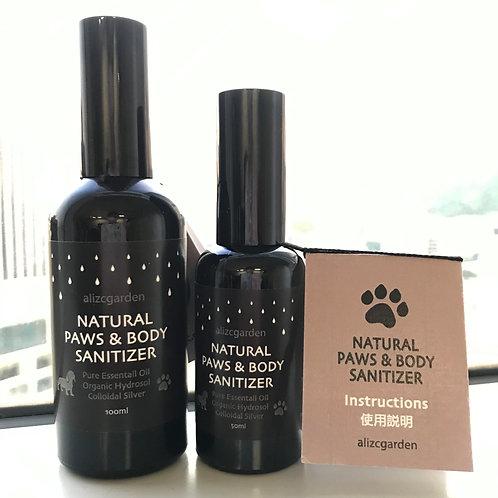 Natural paws & body sanitizer (100ml)