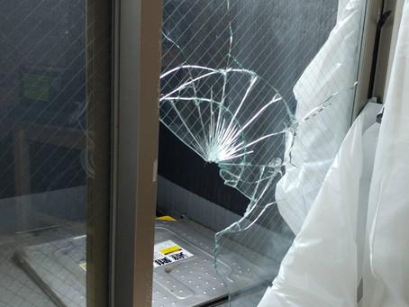 台東区 下谷 規格外の窓ガラス修理・交換