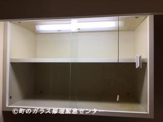足立区 青井 ガラス修理後