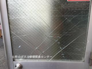 墨田区 東墨田 強風被害のガラス修理・交換