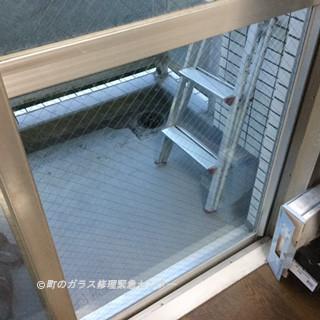 足立区 南花畑 ガラス修理後 ②