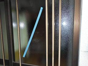 足立区 青井 窓ガラス修理・交換後