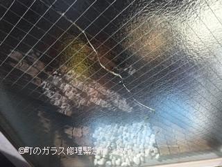 墨田区 錦糸町 ガラス修理前