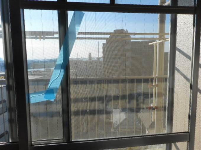葛飾区 ガラス修理前 NO1