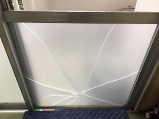 葛飾区 都営西亀有住宅窓ガラス修理・交換