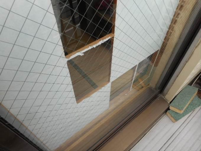 足立区 本木のガラス修理後