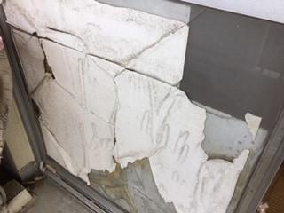 葛飾区 青戸 ガラス修理前