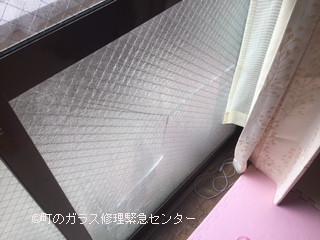墨田区 亀沢 ヒビガラスの修理・交換