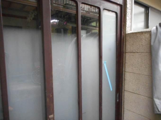 足立区 六木のガラス修理後