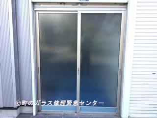 葛飾区 綾瀬 ガラス修理前