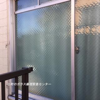 葛飾区 柴又 ガラス修理後