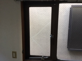 台東区 千束 透明ワイヤー入りガラスの修理・交換