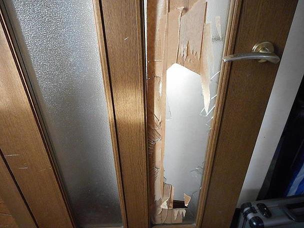足立区 加平 ガラス修理