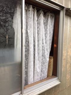 足立区 東保木間 ガラス修理前