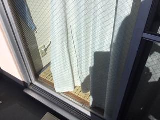 足立区 弘道 ガラス修理前