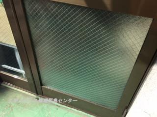 台東区 松が谷 ガラス修理後