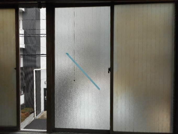 台東区 谷中 ガラス修理後
