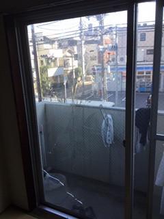 足立区 綾瀬 ガラス修理前