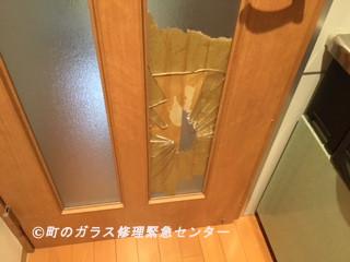 台東区 谷中 ガラス修理前