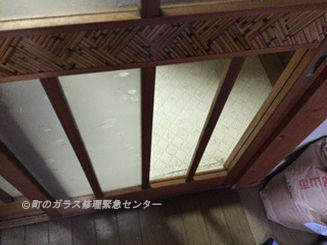 墨田区 亀沢 ガラス修理前