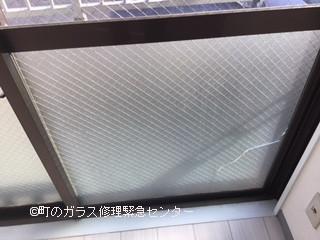 墨田区 横川 転居の為の修理前ガラス