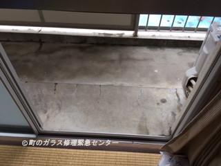足立区 弘道のガラス修理前