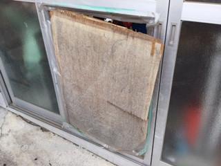 葛飾区 東水元 ガラス修理前