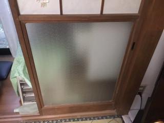 足立区 辰沼 ガラス修理後