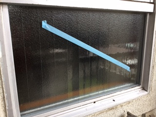 足立区 谷中 ガラス修理後