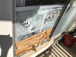 葛飾区 白鳥 都営住宅の窓ガラス修理・交換