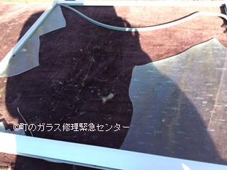 荒川区 西日暮里 中窓のガラス修理・交換