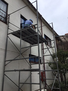 北区 田端 ガラス修理中 NO2