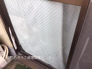 墨田区 向島 ガラス修理前