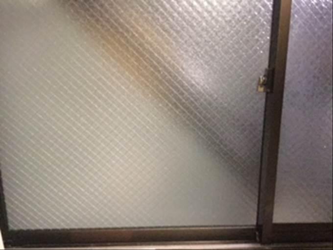 足立区 ガラス修理後