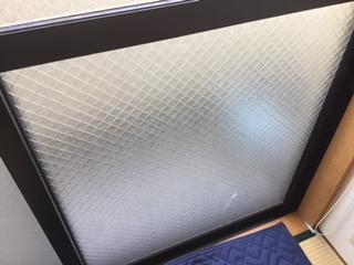足立区 興野 ガラス修理前