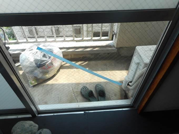 足立区 神明南 ガラス修理後