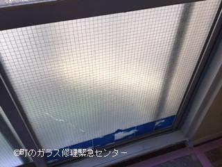 台東区 竜泉 ガラス修理前