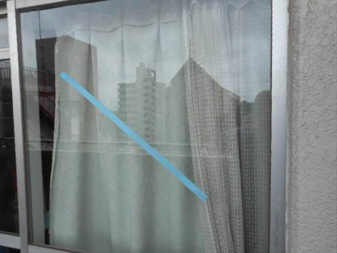 足立区 本木 窓ガラス修理・交換後