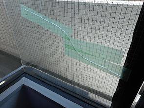 足立区 竹の塚 ガラス修理前