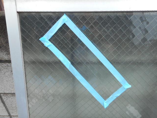 足立区 中川 窓ガラス修理・交換前