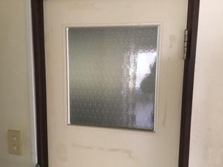 台東区 根岸 ガラス修理後