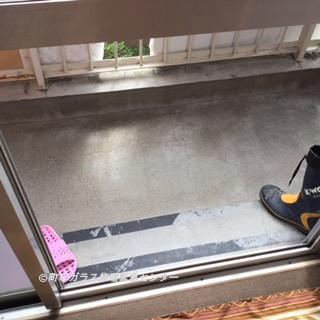 葛飾区 お花茶屋 ガラス修理前