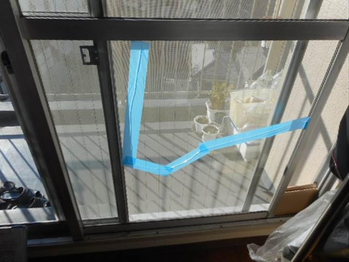 葛飾区 ガラス修理前 NO2