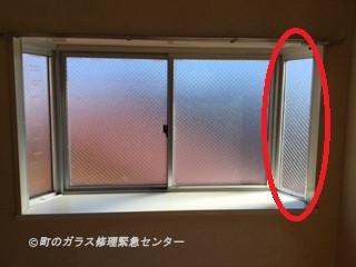 出窓 ガラス修理後