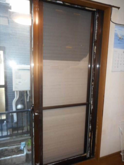 葛飾区 立石 ガラス修理前