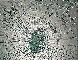 防犯ガラスの割れパターン