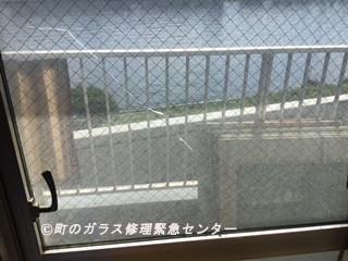 台東区 橋場 ガラス修理前
